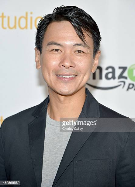 Actor Joel de la Fuente attends the 'The Man In The High Castle' panel discussion at the Amazon Studios portion of the 2015 Summer TCA Tour on August...