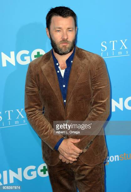 Actor Joel Edgarton arrives for the Premiere Of Amazon Studios And STX Films' Gringo held at Regal LA Live Stadium 14 on March 6 2018 in Los Angeles...