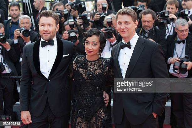 Actor Joel Edgerton actress Ruth Negga and director Jeff Nichols attend the 'Loving' red carpet arrivals during the 69th annual Cannes Film Festival...