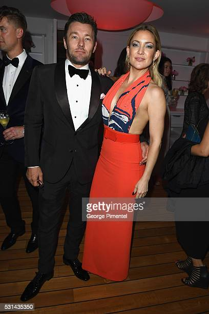 Actor Joel Edgerton and actress Kate Hudson attend Vanity Fair and Chopard AfterParty Celebrating the Cannes Film Festival at Hotel du CapEdenRoc on...