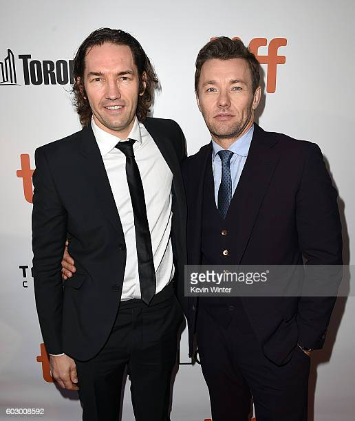 Actor Joel Edgerton and Nash Edgerton attends the 'Loving' premiere during the 2016 Toronto International Film Festival at Roy Thomson Hall on...
