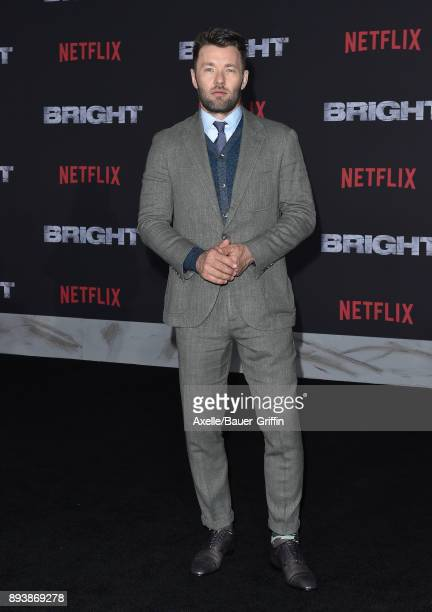 Actor Joel Edgerton arrives at the premiere of Netflix's 'Bright' at Regency Village Theatre on December 13 2017 in Westwood California