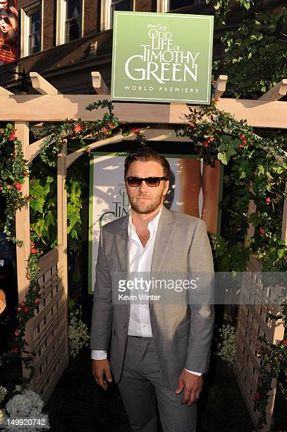 Actor Joel Edgerton arrives at the premiere of Walt Disney Pictures' The Odd Life of Timothy Green at the El Capitan Theatre on August 6 2012 in...