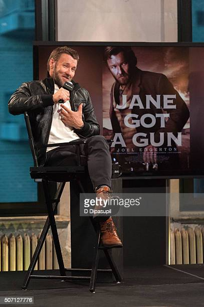 Actor Joel Edgerton attends AOL Build Presents Jane Got a Gun at AOL Studios In New York on January 27 2016 in New York City