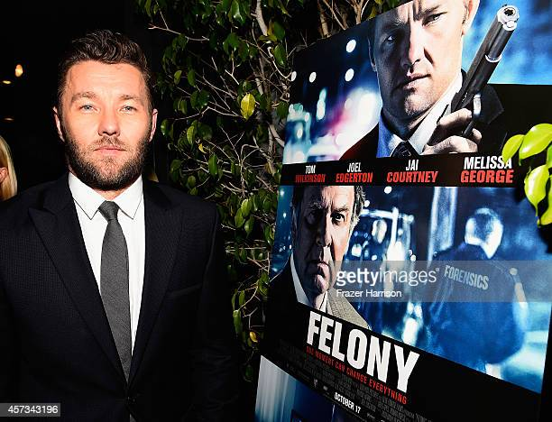 Actor Joel Edgerton attends Australians in Film present the Premiere Of 'Felony' at Harmony Gold Theatre on October 16 2014 in Los Angeles California