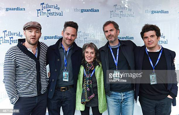 Actor Joel Edgerton director Scott Cooper moderator Annette Insdorf and directors Xavier Giannoli and Nicolas Saada attend the 2015 Telluride Film...