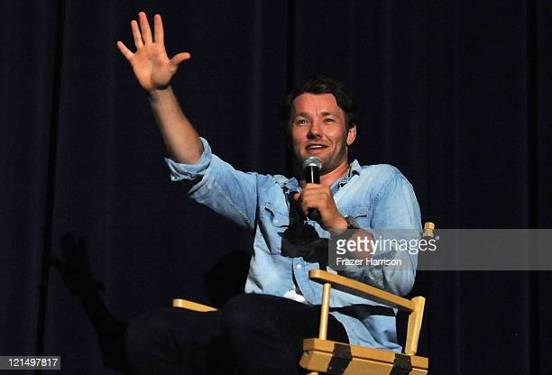 Actor Joel Edgerton on stage at a special Australians In Film Screening Of Lionsgate Films' Warrior with QA by Joel Edgerton on August 19 at the...