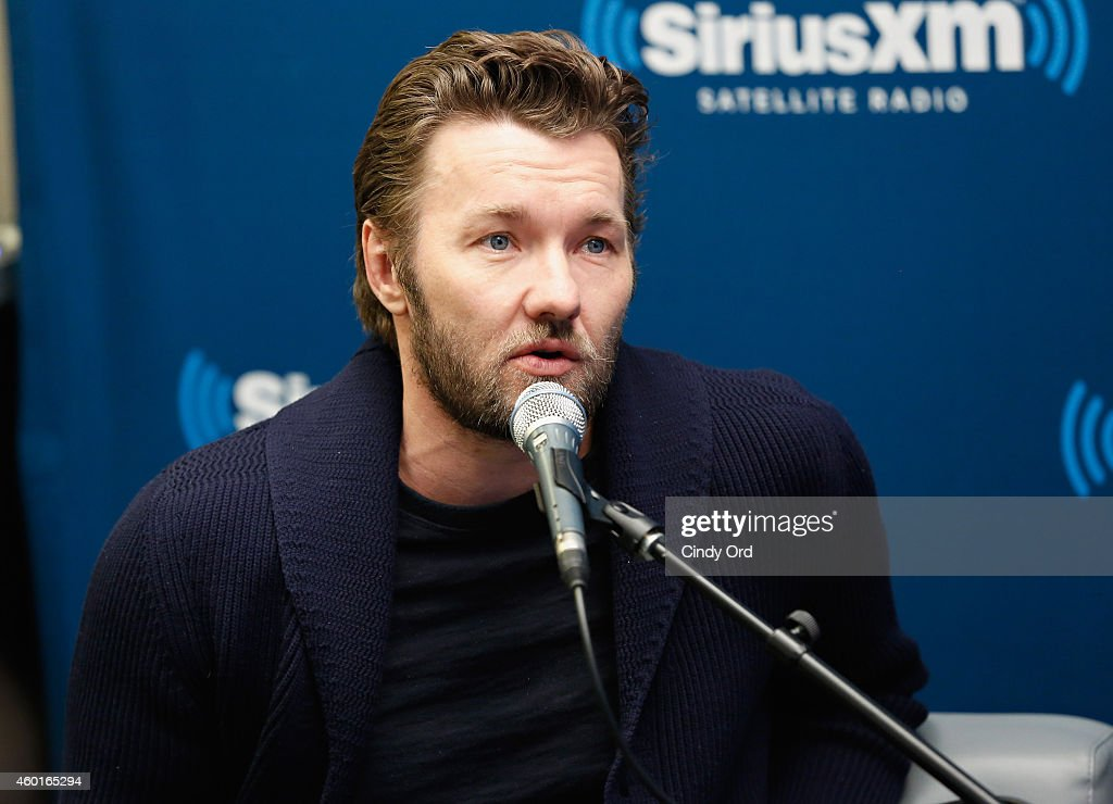 Actor Joel Edgerton takes part in a SiriusXM 'Town Hall- Exodus: Gods and Kings' special with host Matt Bean, Editor of Entertainment Weekly, on SiriusXM's Entertainment Weekly Radio channel at the SiriusXM Studios on December 8, 2014 in New York City.
