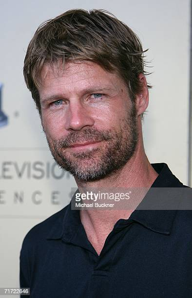 Actor Joel Gretch arrives at the BAFTA/LAAcademy of Television Arts and Sciences Tea Party at the Century Hyatt on August 26 2006 in Century City...