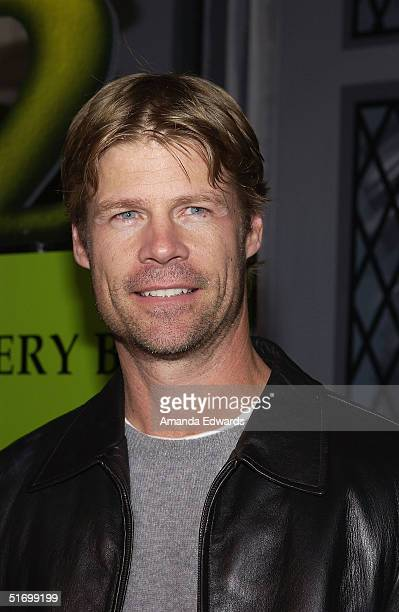 Actor Joel Gretsch arrives at the Shrek 2 DVD release party on November 8 2004 at Spago in Beverly Hills California