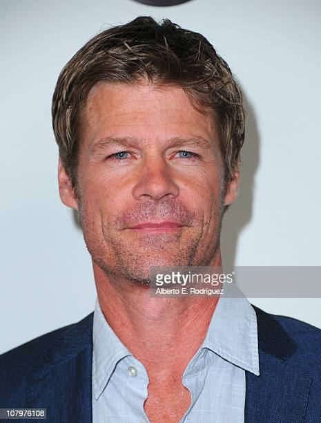 Actor Joel Gretsch arrives to Disney ABC Television Group's TCA Winter Press Tour on January 10 2011 in Pasadena California