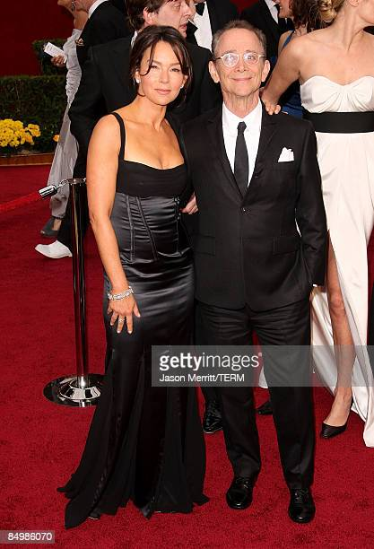 Actor Joel Grey and Jo Wilder arrives at the 81st Annual Academy Awards held at Kodak Theatre on February 22, 2009 in Los Angeles, California.