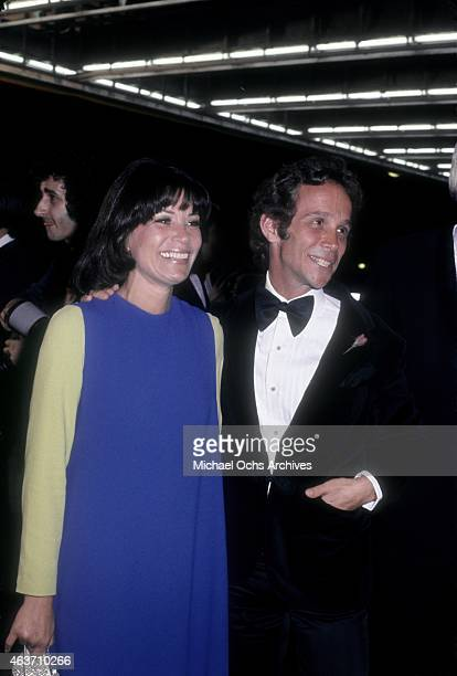Actor Joel Grey and wife Jo Wilder arrive at the Golden Globe Awards on January 28, 1973 at the Century Plaza Hotel in Los Angeles, California.