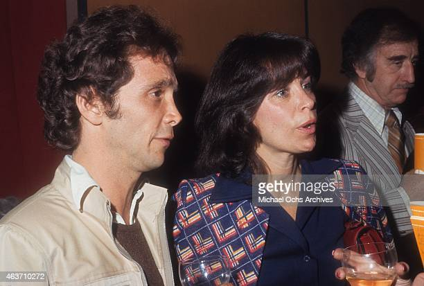 Actor Joel Grey and wife Jo Wilder attend an event circa 1975 in Los Angeles, California.