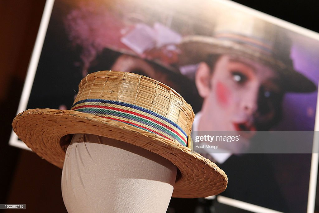 Actor Joel Grey donates his hat from Cabaret at the 'Cabaret' Washington DC Screening honoring Joel Grey at Smithsonian National Museum Of American History on February 22, 2013 in Washington, DC.