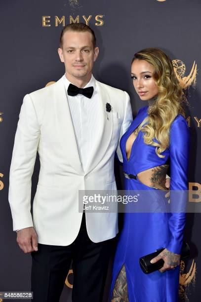 Actor Joel Kinnaman and Cleo Wattenstrom attend the 69th Annual Primetime Emmy Awards at Microsoft Theater on September 17 2017 in Los Angeles...