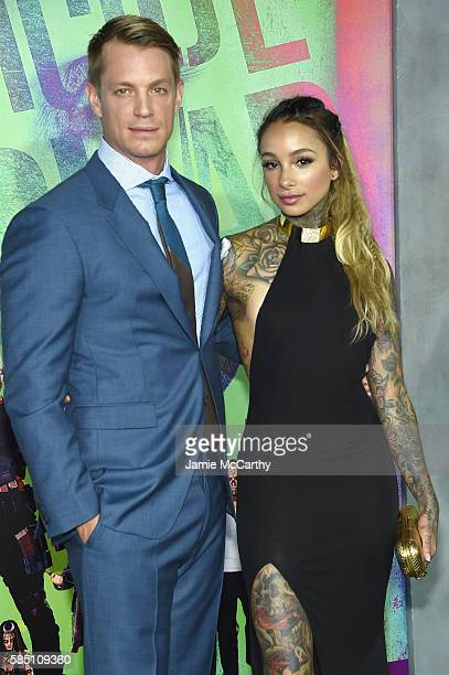 Actor Joel Kinnaman and Cleo Wattenstrom attend the Suicide Squad World Premiere at The Beacon Theatre on August 1 2016 in New York City