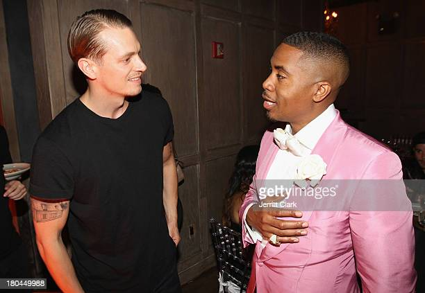 Actor Joel Kinnaman and Nas at Nas 40th Birthday Celebration Dinner And Party at Avenue NYC on September 12, 2013 in New York City.