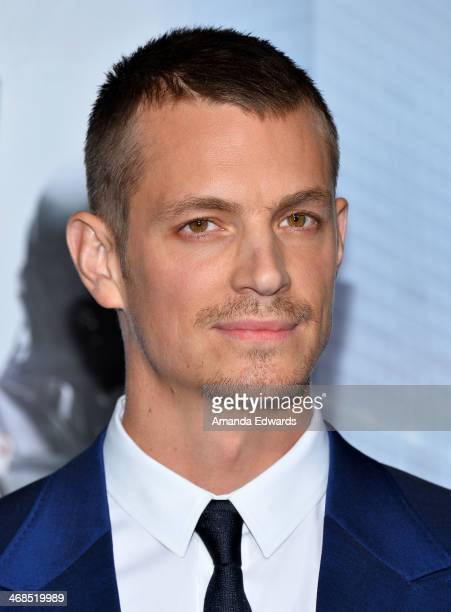 Actor Joel Kinnaman arrives at the Los Angeles premiere of 'Robocop' at the TCL Chinese Theatre on February 10 2014 in Hollywood California