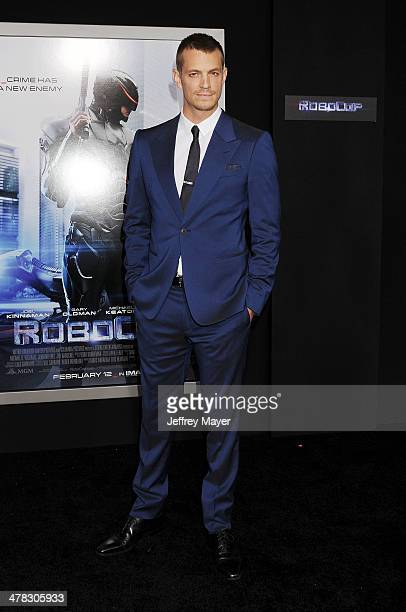Actor Joel Kinnaman arrives at the Los Angeles premiere of 'Robocop' at TCL Chinese Theatre on February 10, 2014 in Hollywood, California.