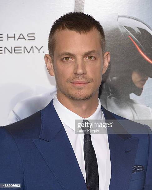 "Actor Joel Kinnaman attends the premiere of Columbia Pictures' ""Robocop"" on February 10, 2014 in Hollywood, California."