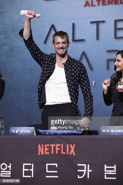 Actor Joel Kinnaman attends the press conference for NETFLIX's 'Altered Carbon' on January 22, 2018 in Seoul, South Korea.