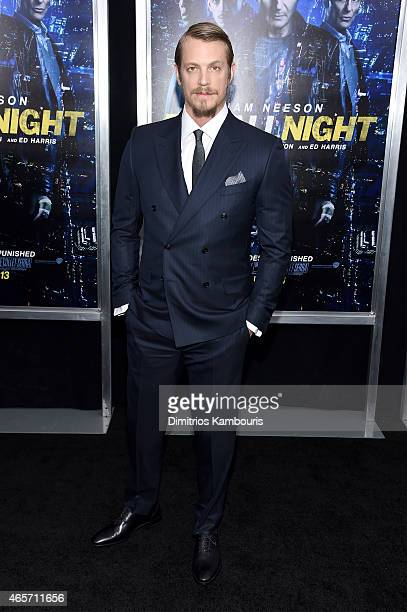 Actor Joel Kinnaman attends the 'Run All Night' New York Premiere at AMC Lincoln Square Theater on March 9 2015 in New York City