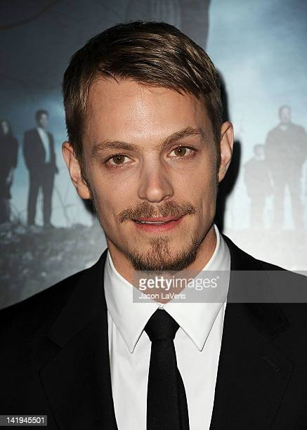 Actor Joel Kinnaman attends the season 2 premiere of AMC's 'The Killing' at ArcLight Cinemas on March 26 2012 in Hollywood California