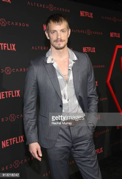 Actor Joel Kinnaman attends the World Premiere of the Netflix Original Series 'Altered Carbon' on February 1 2018 in Los Angeles California