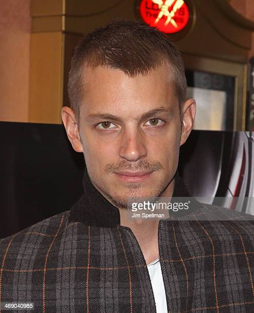 Actor Joel Kinnaman surprises NYC students during a 'Robocop' special screening at AMC 34th Street on February 12 2014 in New York City