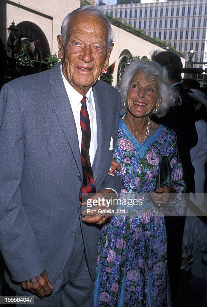 Actor Joel McCrae and actress Frances Dee attend BMI Awards Honoring Michael Jackson on May 8 1990 at the Beverly Wilshire Hotel in Beverly Hills...