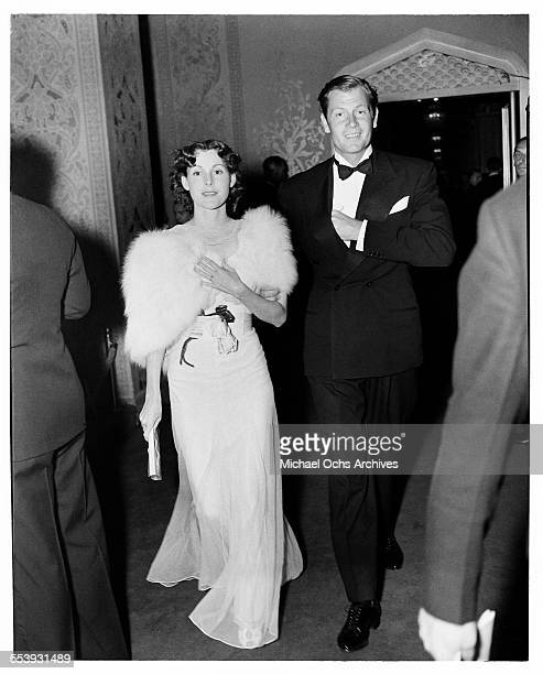 Actor Joel McCrea and wife actress Frances Dee attend an event in Los Angeles California