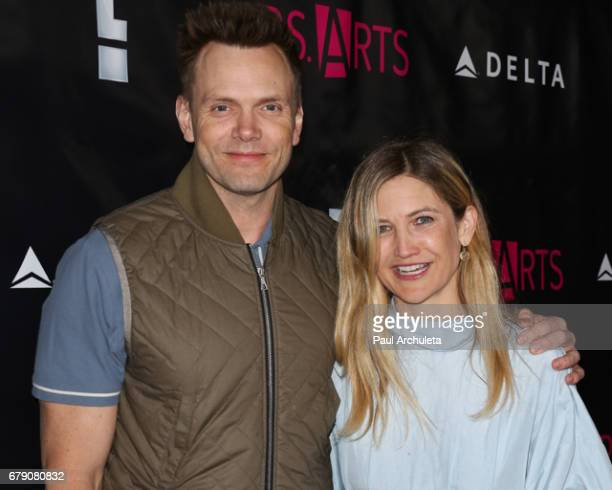 Actor Joel McHale and his Wife Sarah Williams attend the PS Arts' the pARTy at NeueHouse Hollywood on May 4 2017 in Los Angeles California
