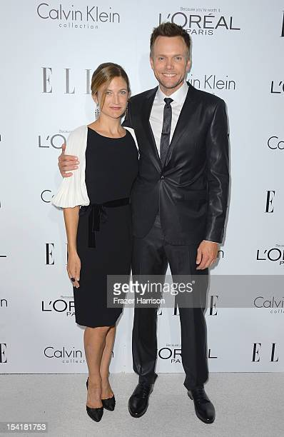 Actor Joel McHale and Sarah Williams arrive at ELLE's 19th Annual Women In Hollywood Celebration at the Four Seasons Hotel on October 15, 2012 in...