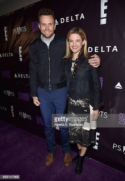 Actor Joel McHale and Sarah Williams attend PS Arts' The pARTy at NeueHouse Hollywood on May 20 2016 in Los Angeles California