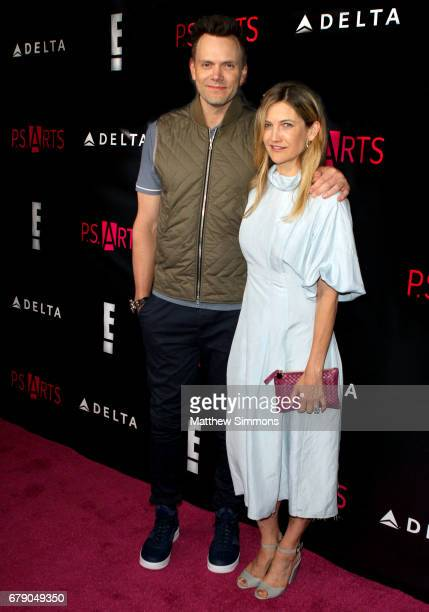 Actor Joel McHale and Sarah Williams attend PS Arts' 'the pARTy' at NeueHouse Hollywood on May 4 2017 in Los Angeles California