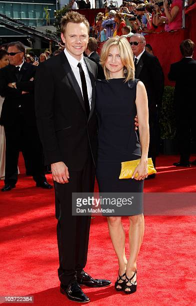 Actor Joel McHale and Sarah Williams attend the 62nd Annual Primetime Emmy Awards at Nokia Theatre Live LA on August 29 2010 in Los Angeles California