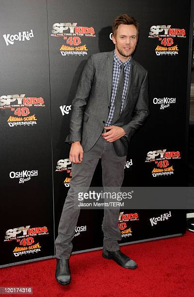 """Actor Joel McHale arrives at """"Spy Kids: All The Time In The World 4D"""" Los Angeles premiere at the Regal Cinemas L.A. Live on July 31, 2011 in Los..."""