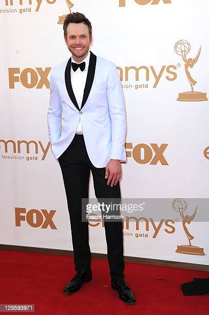 Actor Joel McHale arrives at the 63rd Annual Primetime Emmy Awards held at Nokia Theatre LA LIVE on September 18 2011 in Los Angeles California
