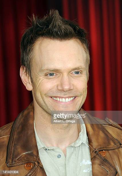 Actor Joel McHale arrives for 'The Muppet' Los Angeles Premiere held at the El Capitan Theatre on November 12 2011 in Hollywood California