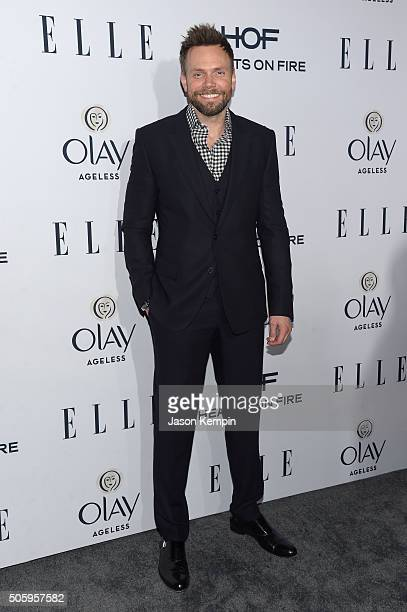 Actor Joel McHale attends ELLE's 6th Annual Women in Television Dinner Presented by Hearts on Fire Diamonds and Olay at Sunset Tower on January 20...