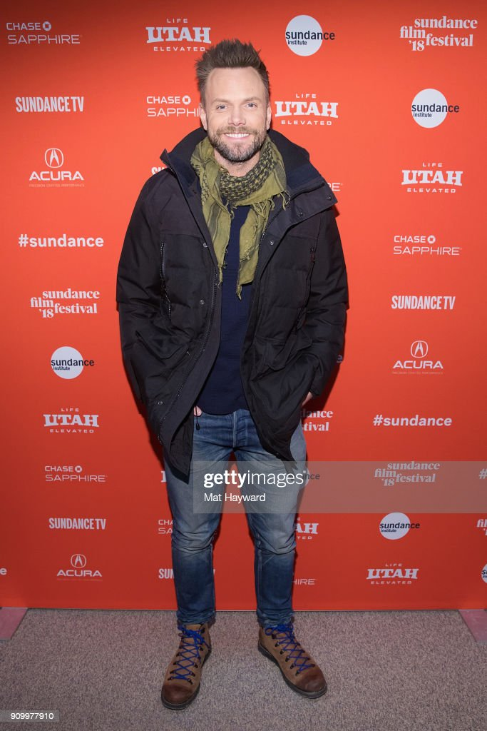 Actor Joel McHale attends the 2018 Sundance Film Festival premiere of Netflixs film A Futile And Stupid Gesture at Eccles Center Theatre on January 24, 2018 in Park City, Utah.