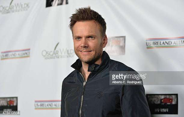 Actor Joel McHale attends the 9th Annual Oscar Wilde Honoring The Irish In Film PreAcademy Awards event at Bad Robot on February 27 2014 in Santa...
