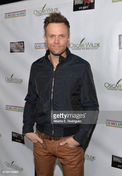 Actor Joel McHale attends the 9th Annual 'Oscar Wilde Honoring The Irish In Film' PreAcademy Awards event at Bad Robot on February 27 2014 in Santa...