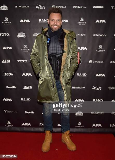 Actor Joel McHale attends the APA reception at the RAND Luxury Escape during the 2018 Sundance Film Festival at The St Regis Deer Valley on January...