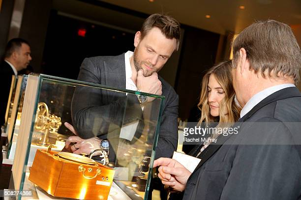 Actor Joel McHale attends the Glashutte Original celebrates the launch of manufactory book 'Impressions' at Milk Studios on February 3 2016 in Los...