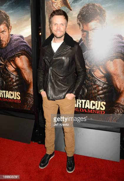 Actor Joel McHale attends the Spartacus War Of The Damned premiere at Regal Cinemas LA LIVE Stadium 14 on January 22 2013 in Los Angeles California