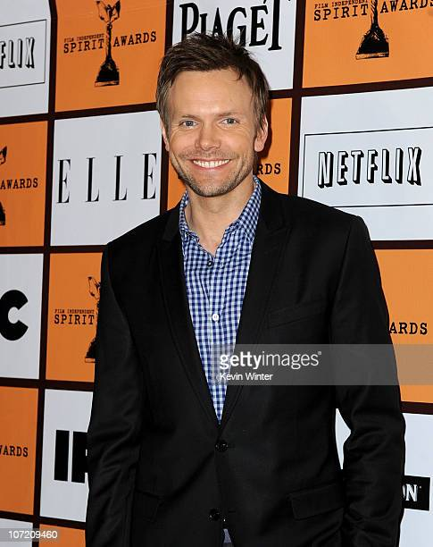 Actor Joel McHale poses onstage during the 2011 Film Independent Spirit Award nominations press conference at The London West Hollywood on November...