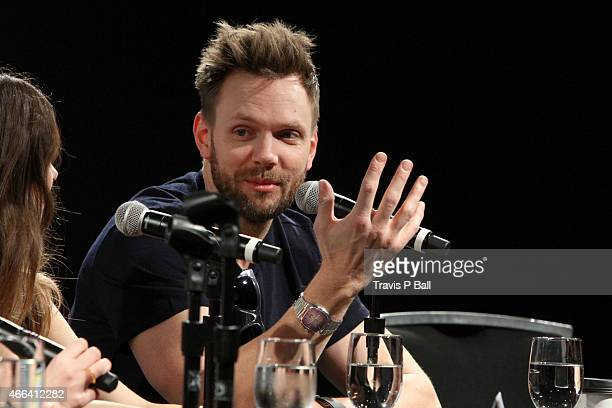 Actor Joel McHale speaks onstage at 'The Cast Of Community On Moving To Digital' during 2015 SXSW Music Film Interactive Festival at Austin...