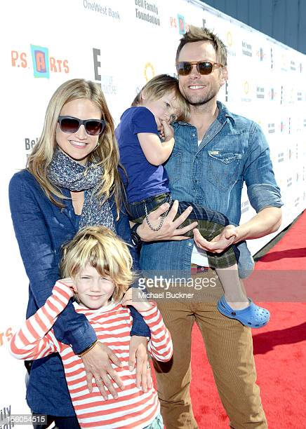 Actor Joel McHale with his wife Sarah Williams and their sons Eddie and Isaac attend the creative arts fair and family day Express Yourself...